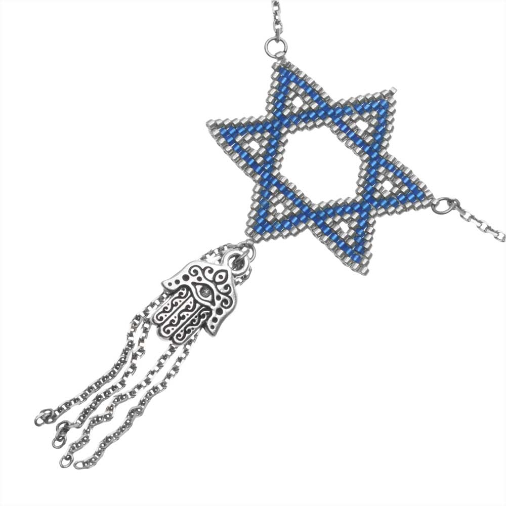 Hamsa and Hexagram Necklace