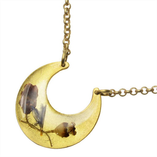 Botanical Crescent Necklace