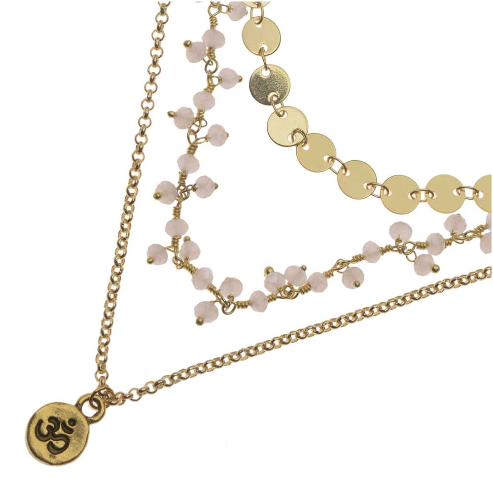 Emilia Layered Necklace in Gold