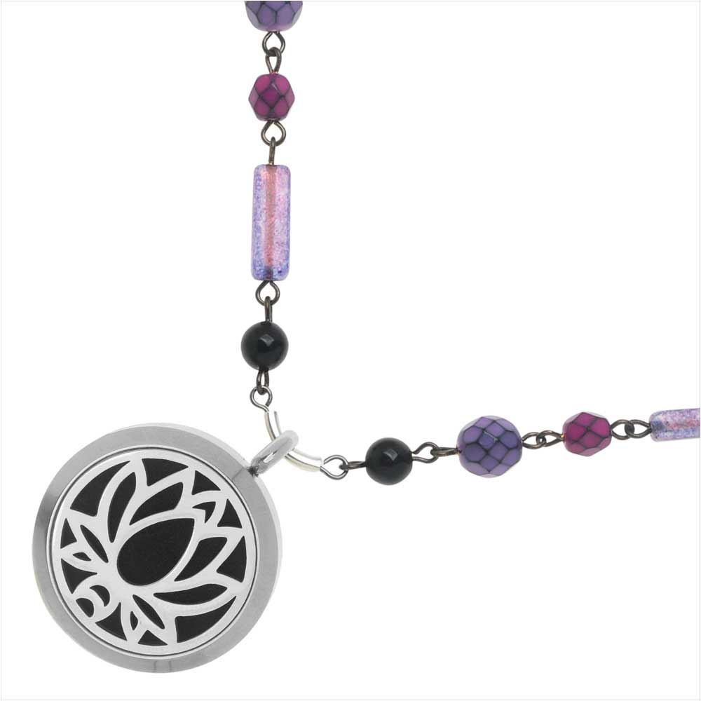 Retired - Violet Lotus Aromatherapy Necklace