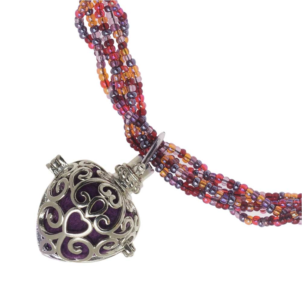Retired - Heart Aglow Aromatherapy Necklace