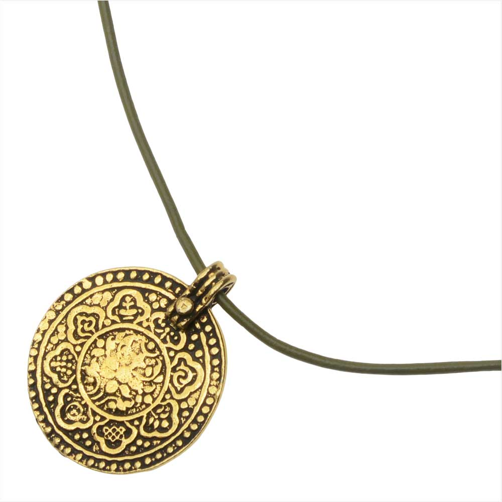 Retired - 8 Fold Path Slide Knot Necklace in Gold