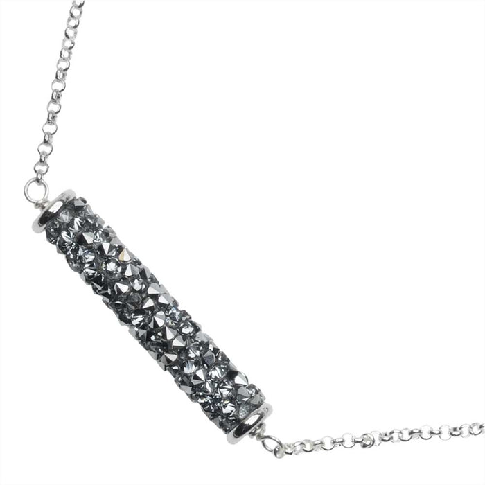 Roxy Necklace in Crystal Light Chrome
