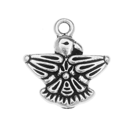 TierraCast Pewter Charm, Thunderbird 19mm, 1 Piece, Antiqued Silver Plated