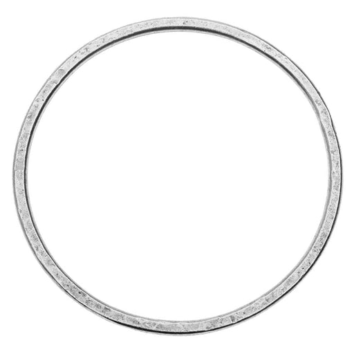Open Frame Pendant, Flat Round Hoop 50.5mm, Antiqued Silver, 1 Piece, by Nunn Design