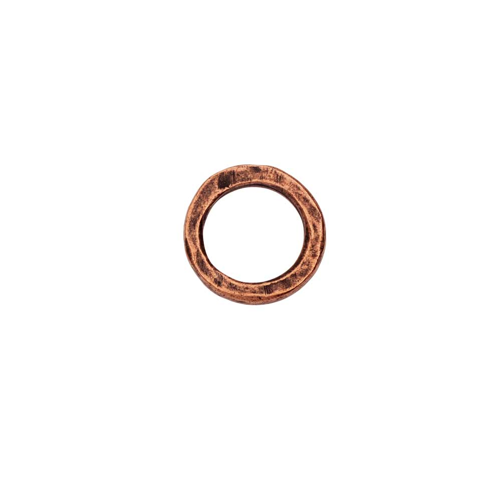 Open Frame Pendant, Flat Round Hoop 15.5mm, Antiqued Copper, 1 Piece, by Nunn Design