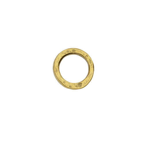 Open Frame Pendant, Flat Round Hoop 15.5mm, Antiqued Gold, 1 Piece, by Nunn Design