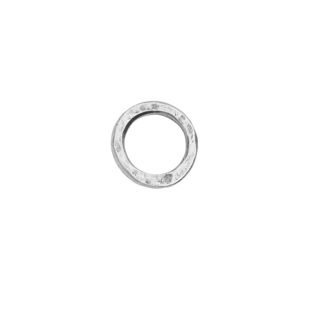 Open Frame Pendant, Flat Round Hoop 15.5mm, Antiqued Silver, 1 Piece, by Nunn Design