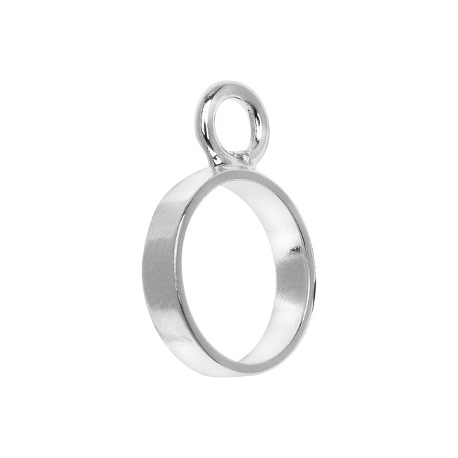 Nunn Design Open Frame Pendant, Circle 12.5x18mm, 1 Piece, Silver