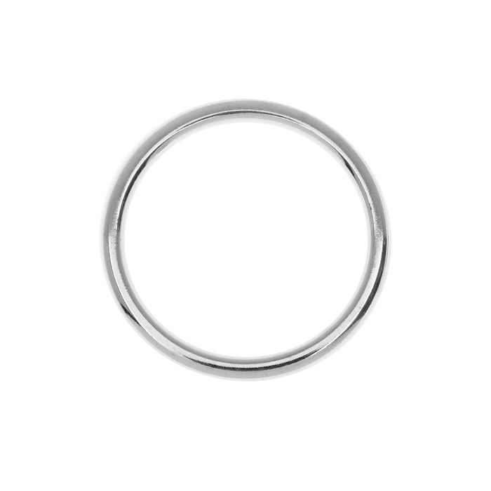 Nunn Design Open Frame, Hoop 24.5mm, 1 Piece, Bright Silver