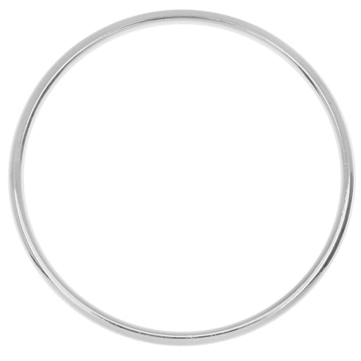 Nunn Design Open Frame, Hoop 49.5mm, 1 Piece, Bright Silver