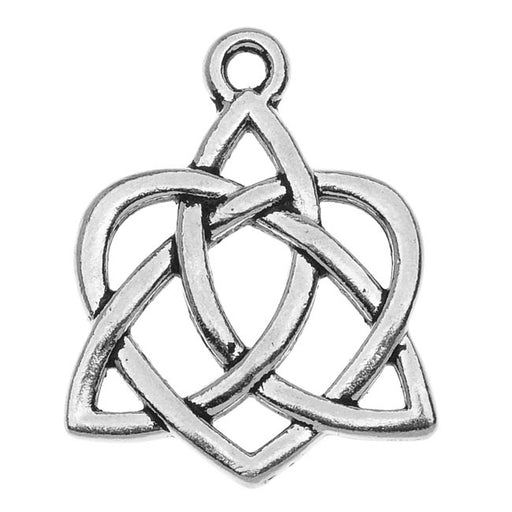 TierraCast Celtic Collection, Celtic Heart Charm 21x26.5mm, 1 Piece, Antiqued Silver