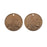 Vintaj Natural Brass, Buffalo Nickel Coin Charms 24 Gauge 13mm, 2 Pieces