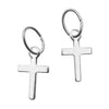 Silver Plated Small Cross Charms 6x10mm (6)