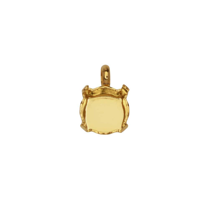 Gita Jewelry Setting for Swarovski Crystal, Round Pendant for SS39 Chatons, 1 Piece, Gold Plated