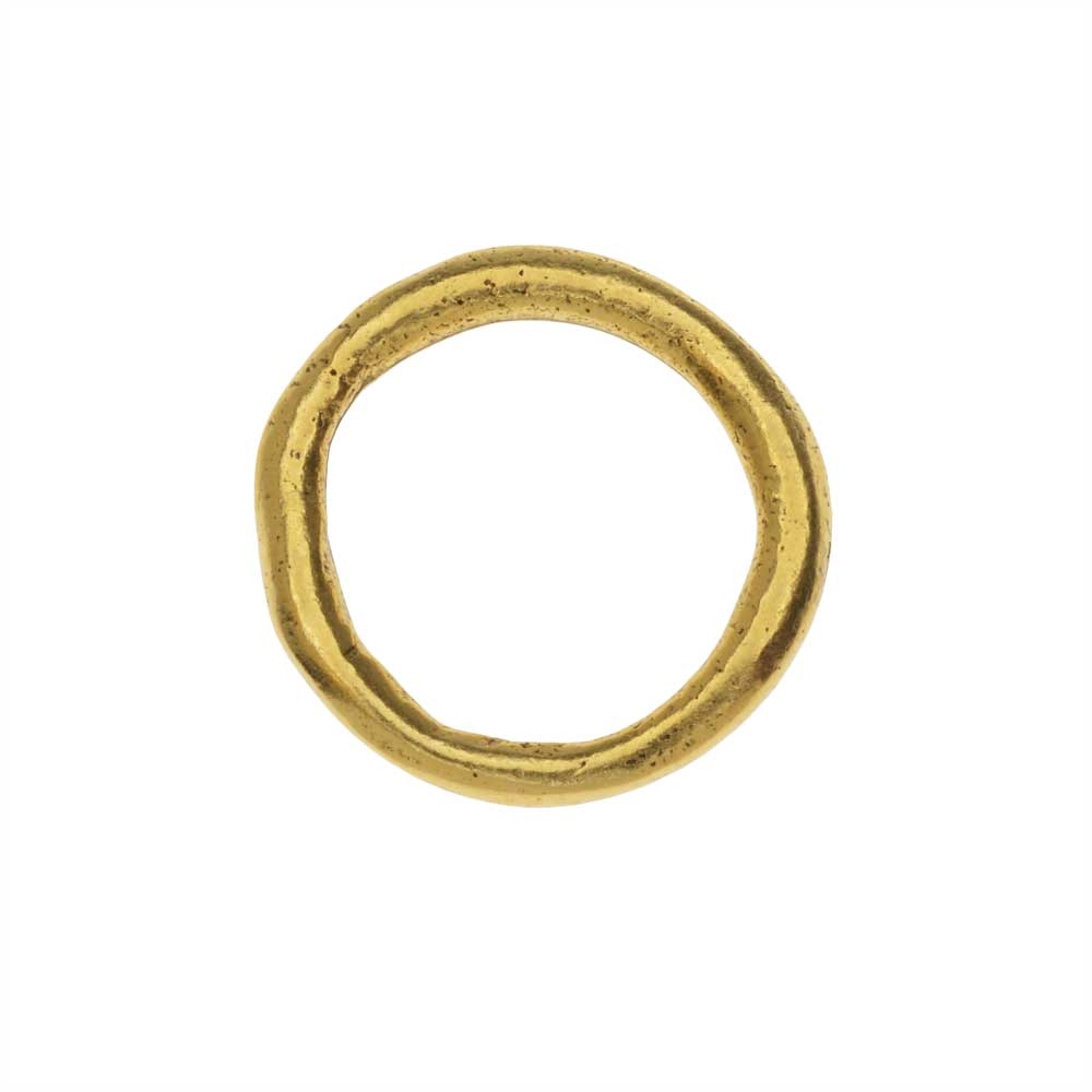 Nunn Design Open Frame, Large Organic Hoop, 21mm, 1 Piece, Antiqued Gold