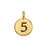Final Sale - TierraCast Pewter Number Charm, Round '5' 16.5x11.5mm, 1 Piece, Gold Plated
