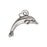 TierraCast Fine Silver Plated Pewter Dolphin Charm 14mm (1)