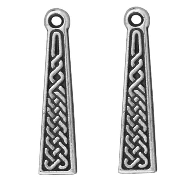TierraCast Fine Silver Plated Pewter Celtic Braid Pendant 24mm (1)