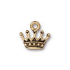 TierraCast 22K Gold Plated Pewter Princess Crown Charm 13mm (1)