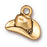 TierraCast 22K Gold Plated Pewter Western Cowboy Hat Charm 12mm (1)