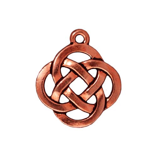 TierraCast Copper Plated Pewter Celtic Knot Open Round Pendant Charm 20mm (1)