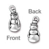 TierraCast Antiqued Silver Plated Lead-Free Charm Snowman With Scarf And Hat 23mm (1)