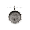 Nunn Design Antiqued Silver Plated Large Bezel Circle Pendant 19mm