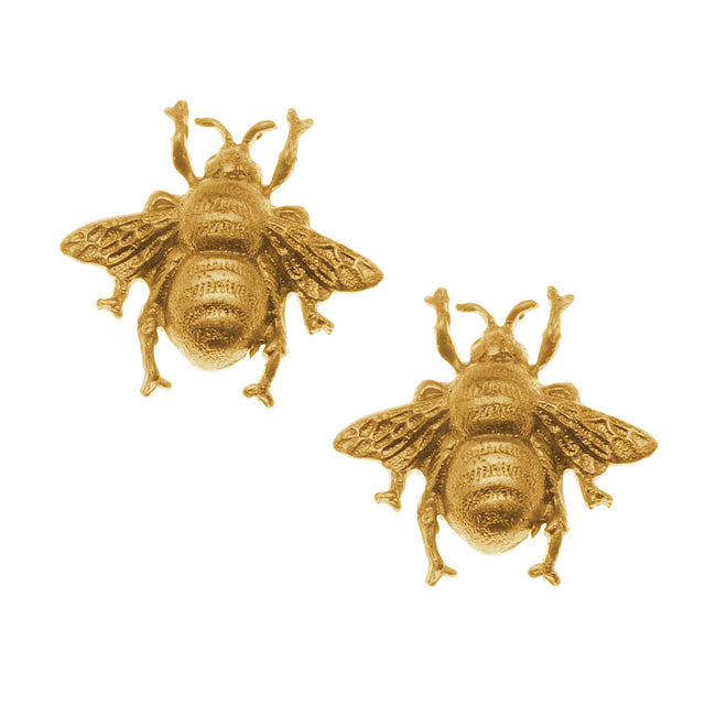 Nunn Design Solid Brass Stamping Bumble Bee Embellishment 17.5x18.5mm (2)