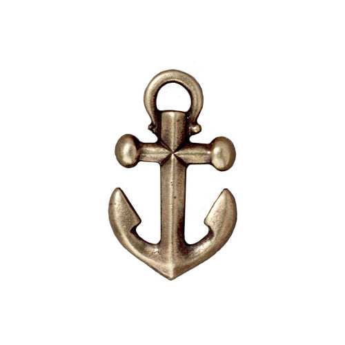 TierraCast Brass Oxide Finish Pewter Anchor Pendant 27mm (1)