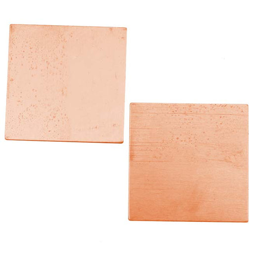 Solid Copper Square Stamping Blanks - 28.7mm 24 Gauge Thick (2 Pieces)