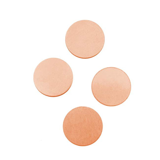 Solid Copper Round Stamping Blanks - 14.5mm Diameter 24 Gauge (4)