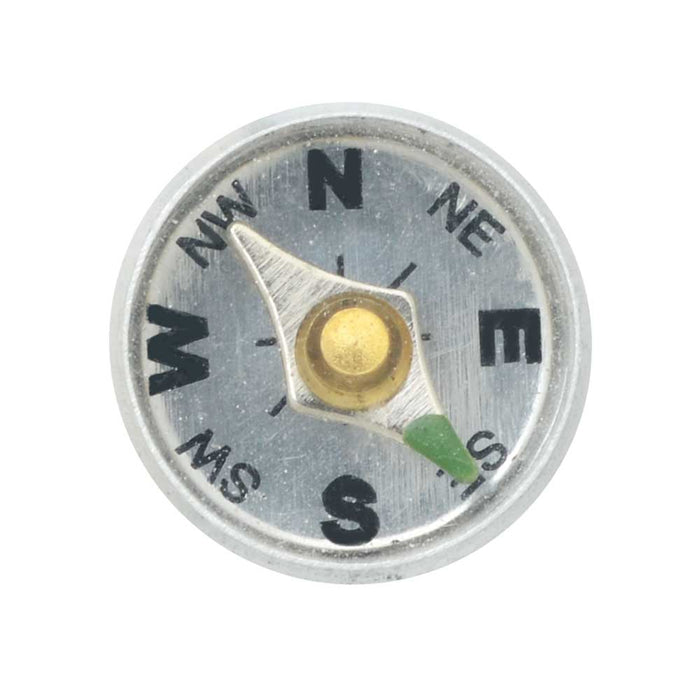 Working Aluminum Compass For Embellishments - 12mm Diameter (1)
