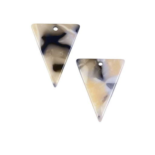 Zola Elements Acetate Pendant, Triangle 15.5x20mm, 2 Pieces, Black Pearl Multi-Colored