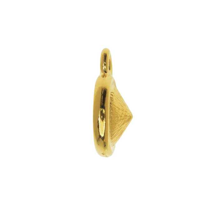 TierraCast Bezel Pendant, Fits #1088 Round Chatons SS39, 1 Piece, Gold Plated