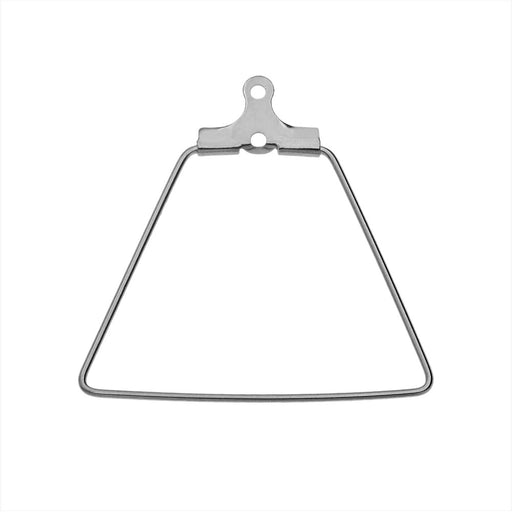 Beadable Open Wire Frame for Earrings or Pendants, Trapezoid 26x27.5mm, 4 Pieces, Stainless Steel