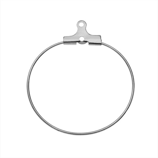 Beadable Open Wire Frame for Earrings or Pendants, Hoop 29mm, 4 Pieces, Stainless Steel