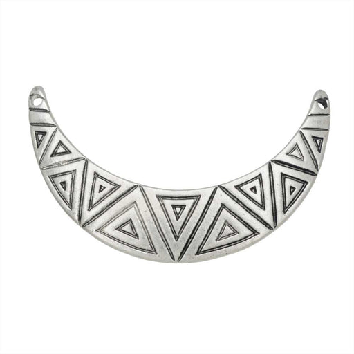 Zola Elements Pendant Link, Aztec Crescent Focal 17x32mm, 1 Piece, Antiqued Silver Tone