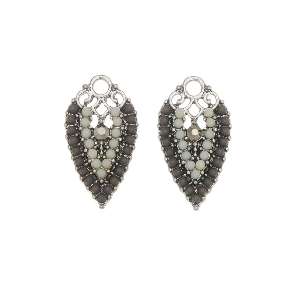 Zola Elements Charm, Monochromatic Inverted Drop 12x21mm, 2 Pieces, Silver Tone