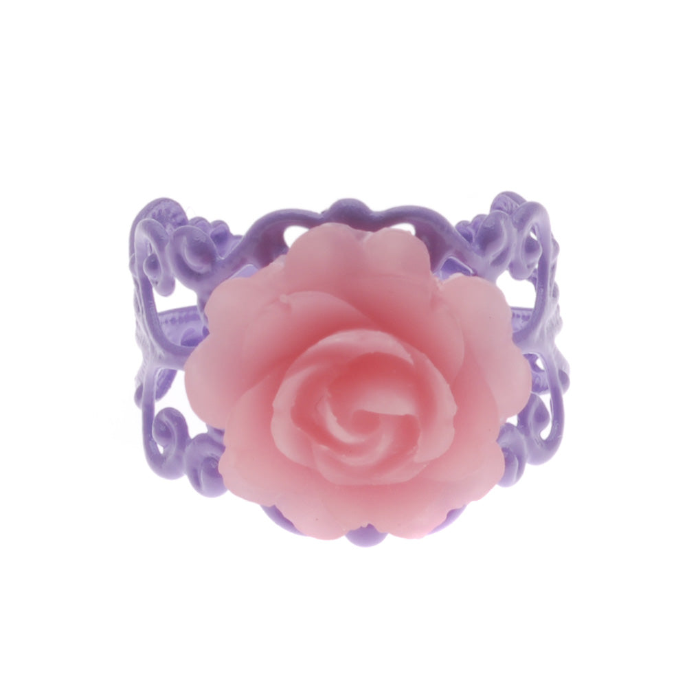 Retired - Lilac and Pink Love in Bloom Ring
