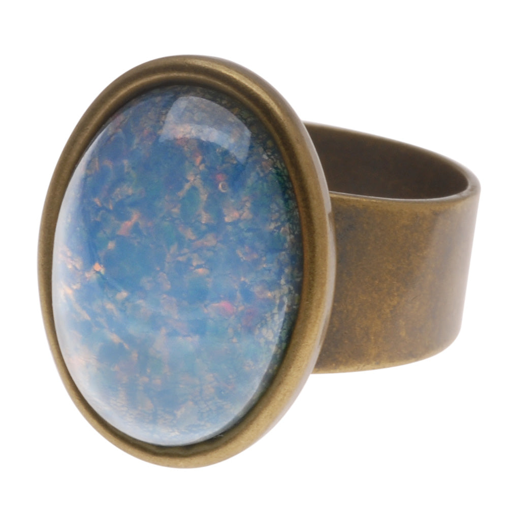 Retired - Opal's Ring in Rainbow Blue