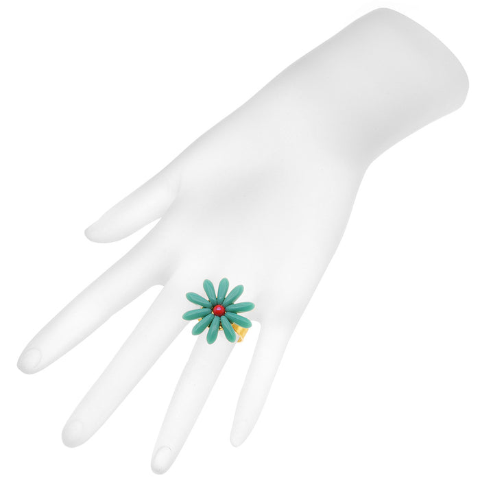 Retired - Dear Daisy Ring in Turquoise