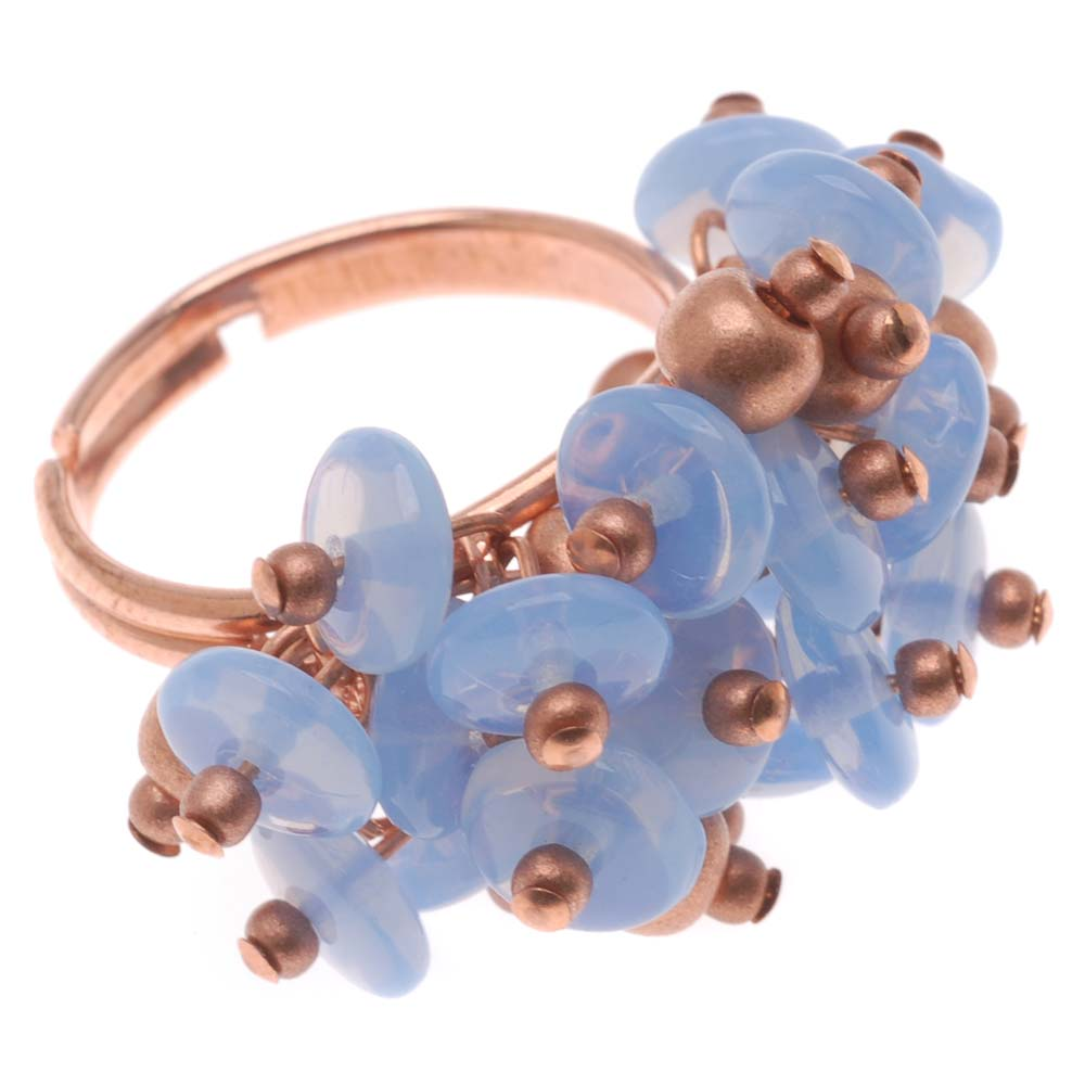 Retired - Periwinkle Cluster Ring