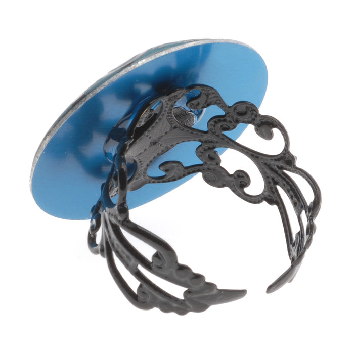 Retired - Decadent Swirls Ring - Turquoise