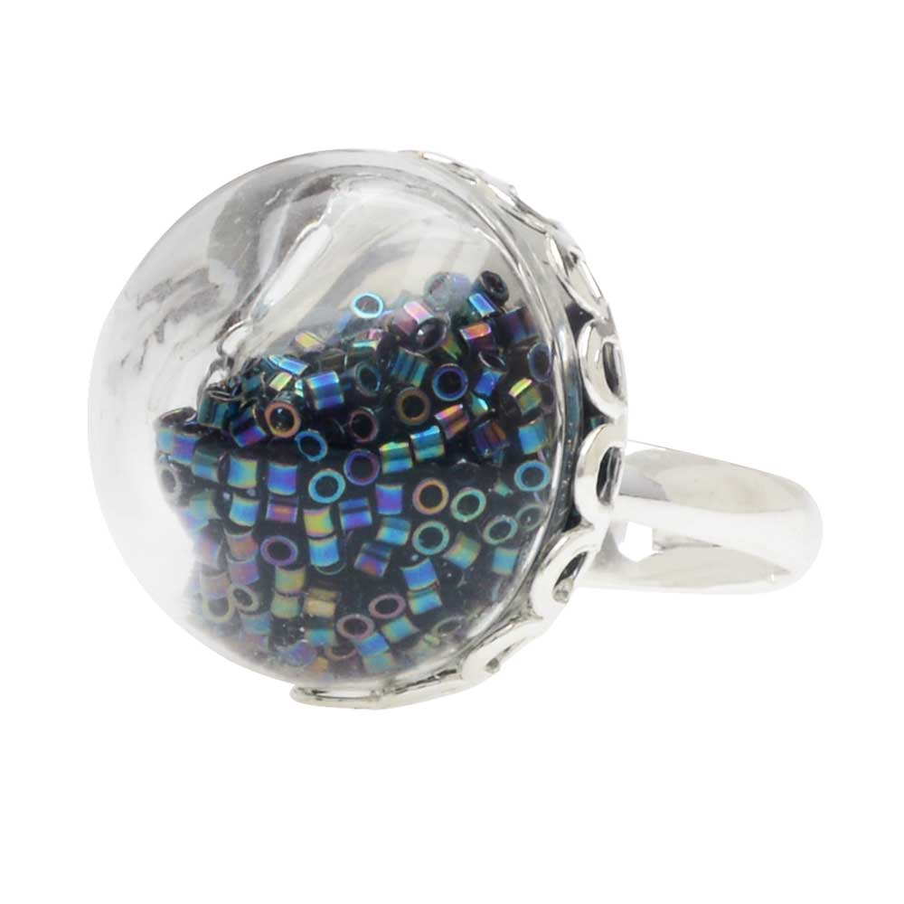 Sparkly Bauble Ring in Silver