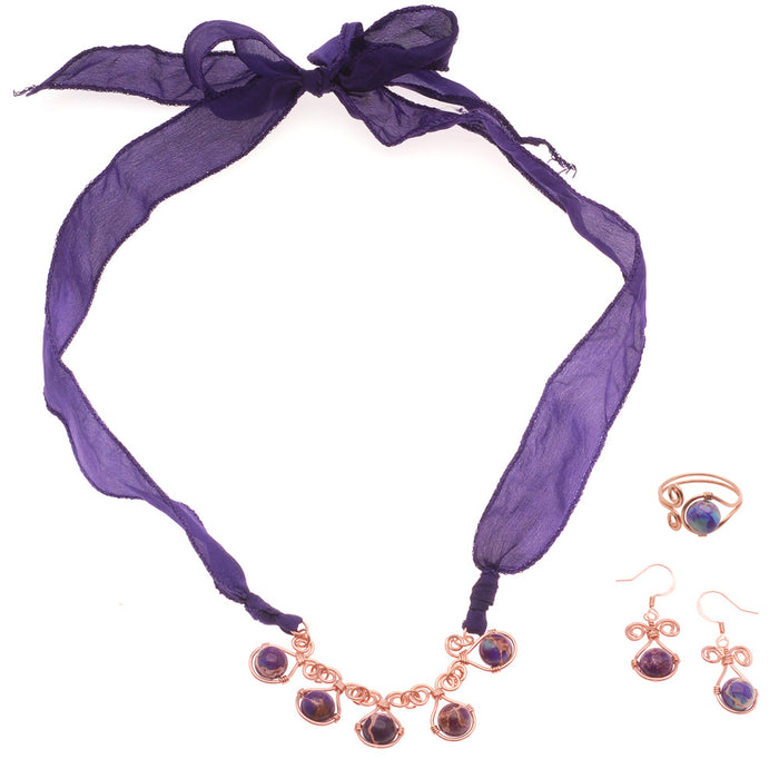 Retired - The Impressionist Necklace, Earrings and Ring Set