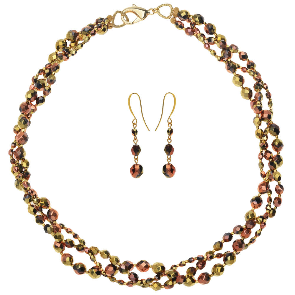 Retired - Fireside Evening Necklace and Earring Set