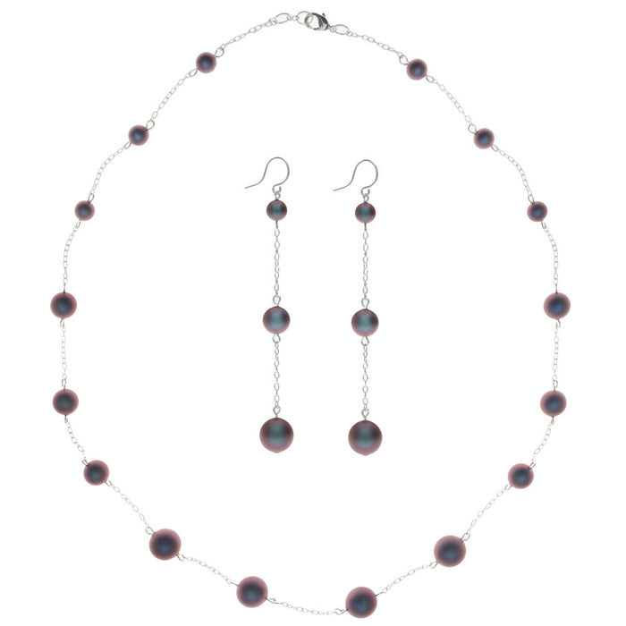 Retired - Moonlight Rouge Necklace and Earring Set