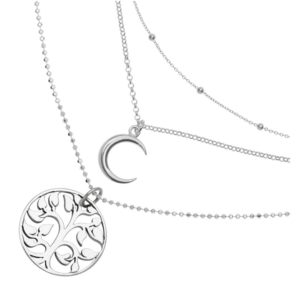 Sterling Silver Layered Necklace Trio — Beadaholique