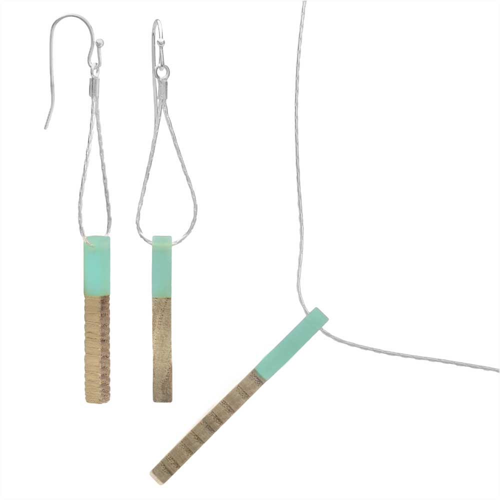 Mod Matchstick Necklace and Earring Set